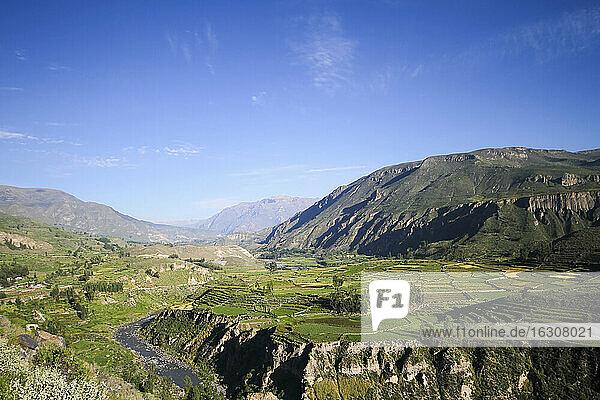 South America  Peru  View to Colca Canyon