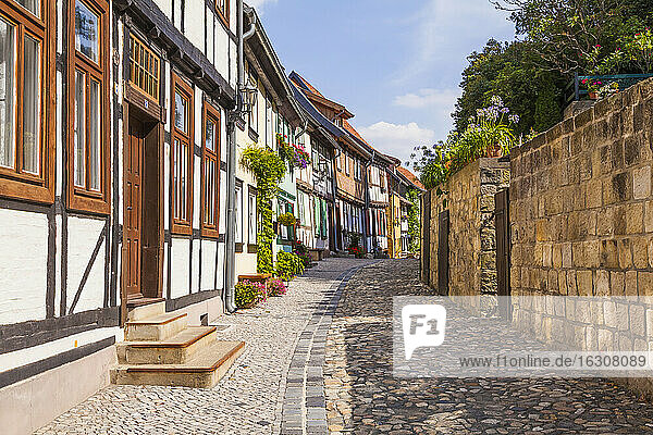 Germany  Saxony-Anhalt  Quedlinburg  Timber-framed houses