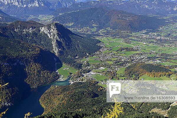 Germany  Bavaria  Upper Bavaria  Berchtesgadener Land  Schoenau at Koenigssee