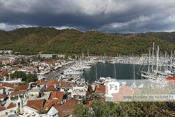 Turkey  Mugla Province  Marmaris  Old town and marina