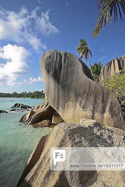 Seychelles  La Digue Island  Beach Anse Source D'Argent