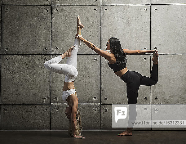 Two women exercising together