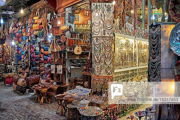 Marktstand  Marrakesch  Marokko  Afrika