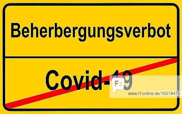 Symbolbild  Streit um Beherbergungsverbot wegen Corona-Krise  Deutschland  Europa