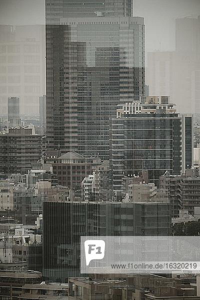 City buildings  Tokyo  Japan