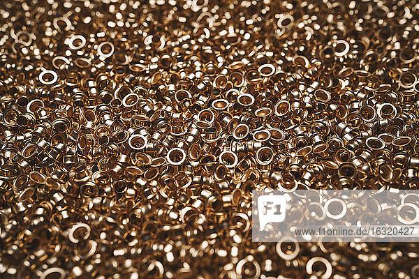 Heap of copper lug parts