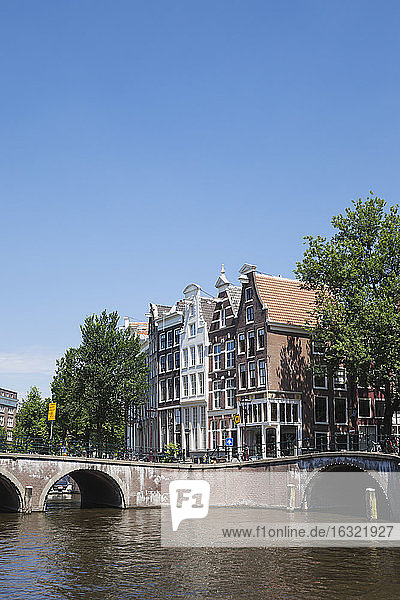 Netherlands  County of Holland  Amsterdam  Prince's Canal and Leidse Canal  Bridge