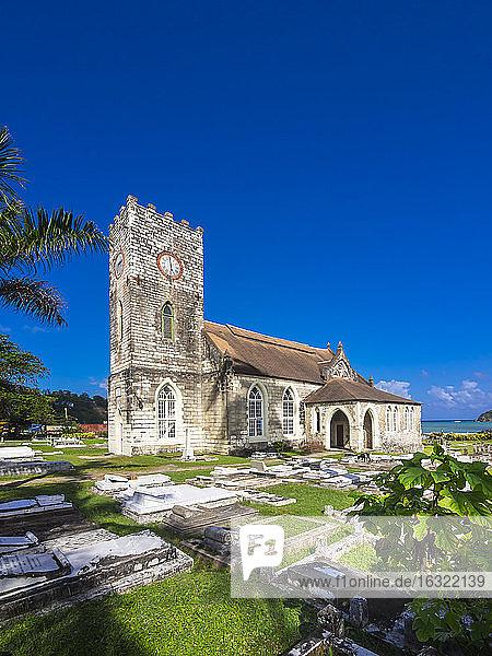 Jamaica  Port Maria  St. Mary Parish Church with cemetery