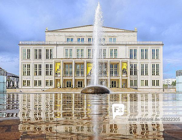 Germany  Leipzig  view to opera house at Augustusplatz