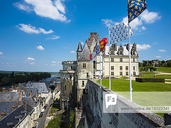 France  Amboise  view to Chateau d'Amboise
