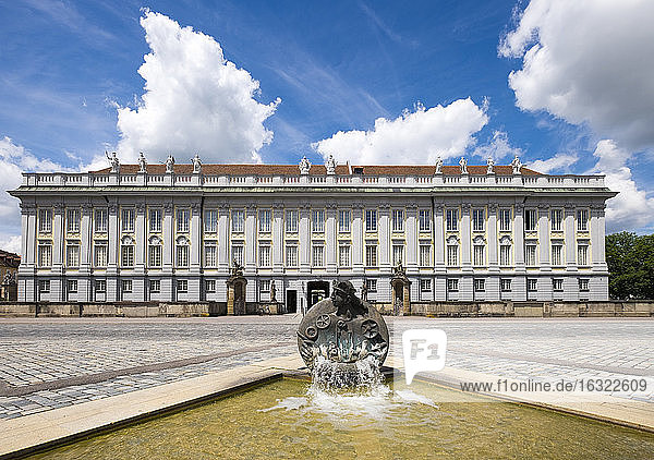 Germany  Bavaria  Middle Franconia  Ansbach  Fountain Ansbachantin and Residence