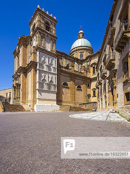 Italy  Sicily  Province of Enna  Piazza Armerina  Cathedral Maria Santissima Assunta at Piazza Duomo