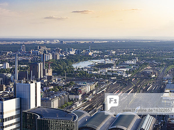 Germany  Frankfurt  view to main station from above