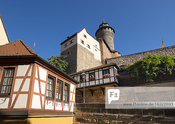 Germany  Bavaria  Middle Franconia  Nuremberg  Castle with Sinwell Tower