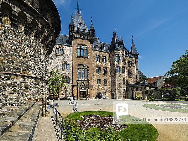 Germany  Saxony-Anhalt  Wernigerode  Wernigerode Castle  Hausmann Tower