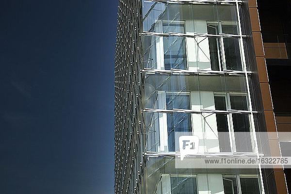 Germany  Hamburg  facade of a modern building