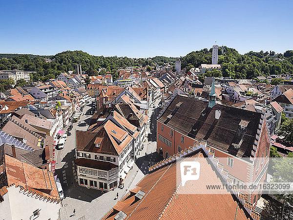 Germany  Baden-Wuerttemberg  Ravensburg  townscape as seen from Blaserturm