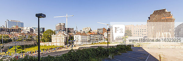 Belgium  Brussels  view to European Quarter with construction cranes
