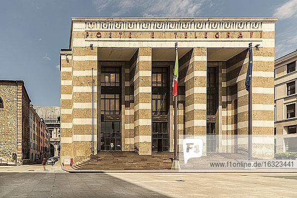 Italy  Brescia  view to General Post Office at Piazza della Vittoria