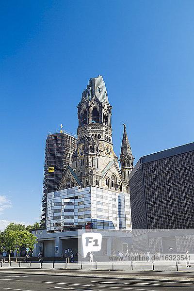 Germany  Berlin  Charlottenburg  Breitscheidplatz  Kaiser Wilhelm Memorial Church