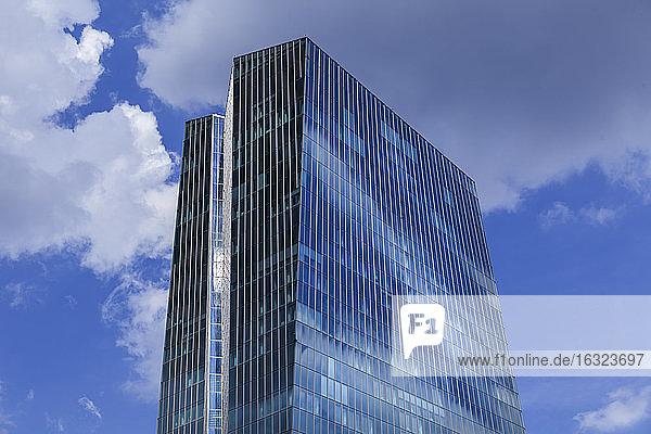 Germany  Frankfurt  upper section of European Central Bank