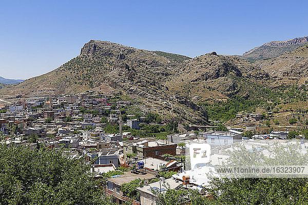 Turkey  Anatolia  South East Anatolia  Diyarbakir Province  Cermik  View of the village