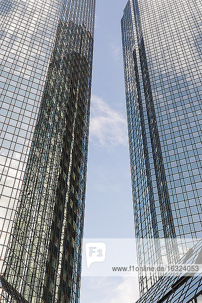 Germany  Hesse  Frankfurt  facades of two high-rise buildings