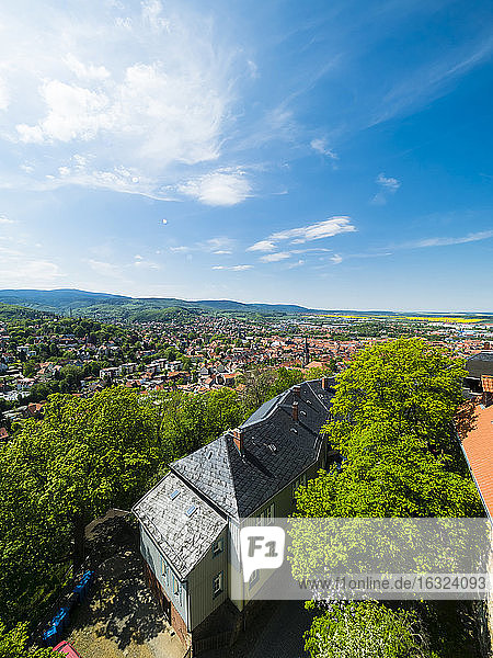 Germany  Saxony-Anhalt  Wernigerode  old town  view from Wernigerode Castle
