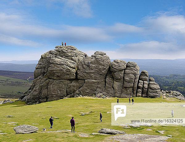 UK  Haytor Vale  Haytor Rocks at Dartmoor National Park
