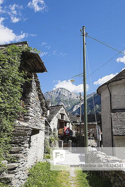 Switzerland  Tessin  Val Verzasca  Sonogno