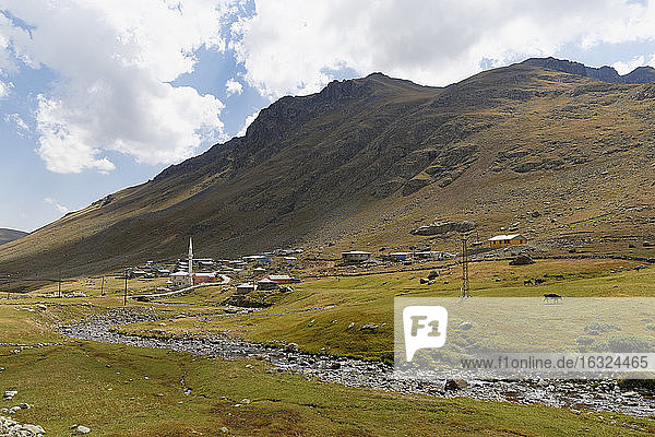 Turkey  Black Sea Region  village at Ovit mountain pass