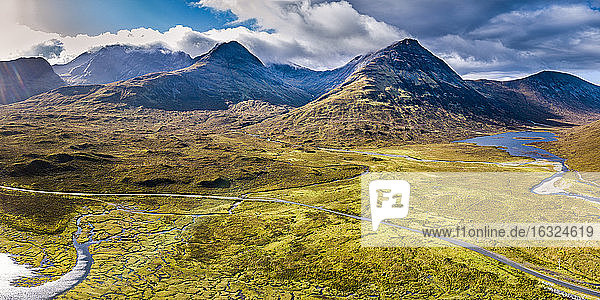 United Kingdom  Scotland  Northwest Highlands  Isle of Skye  Panoramic view of Loch Slapin