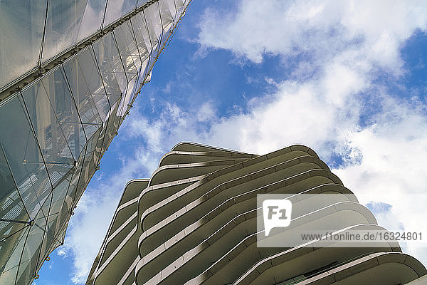 Germany  Hamburg  Hafencity  modern building  low angle view