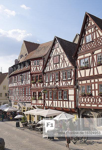 Germany  Bavaria  Ochsenfurt  half-timbered houses