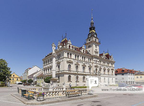 Austria  Lower Austria  Laa an der Thaya  Townhall on city square