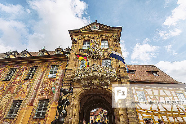 Germany  Bavaria  Bamberg  facade of the old town hall