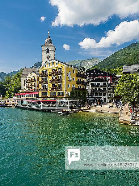 Austria  Salzkammergut  Salzburg State  Lake Wolfgangsee  St. Wolfgang  Hotel Weisses Roessl