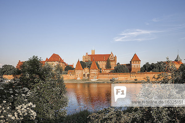 Poland  Malbork Castle at River Nogat