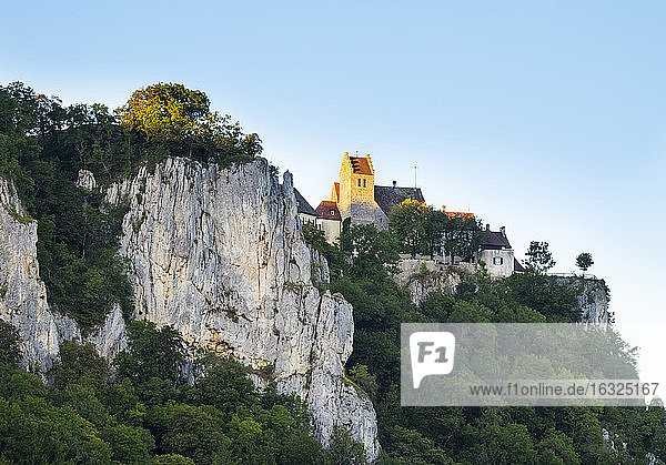 Germany  Baden-Wuerttemberg  Werenwag Castle near Beuron
