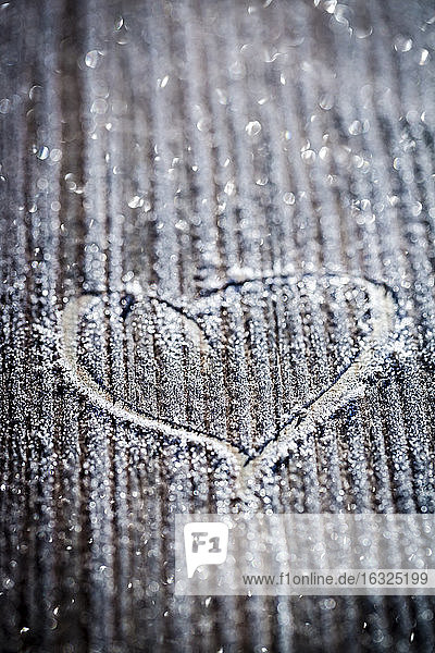 Germany  painted heart in frost