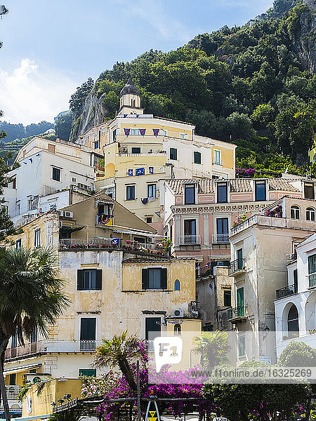 Italy  Amalfi  view to houses