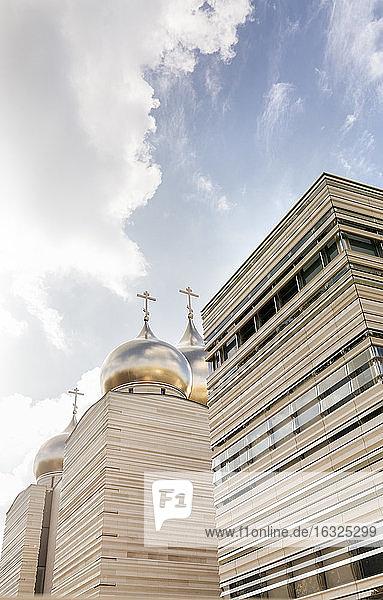 France  Paris  view to modern church