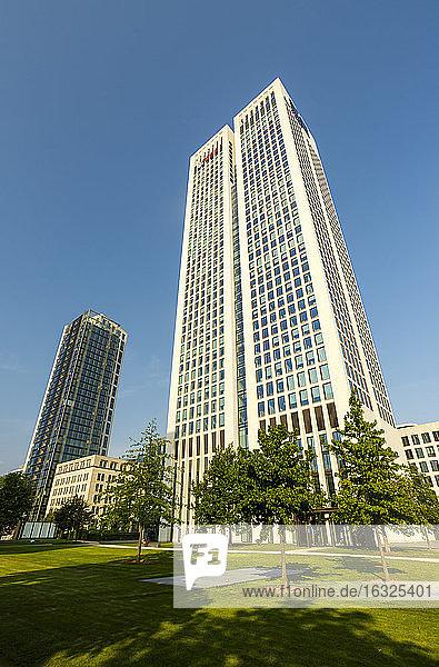Germany  Frankfurt  modern bank buildings