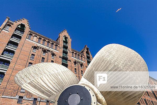 Germany  Hamburg  marine propeller in front of the International Maritime Museum