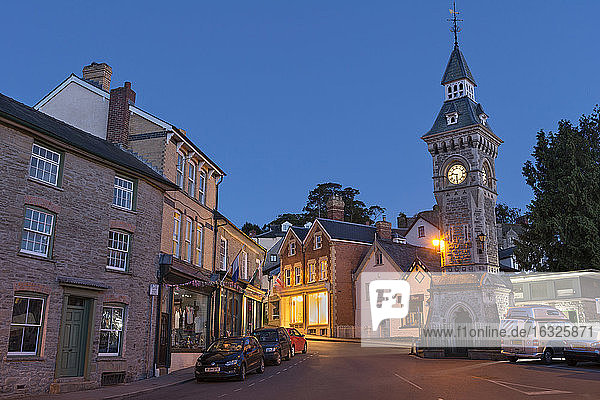 UK  Wales  Hay-on-Wye  Clock tower in the inner city
