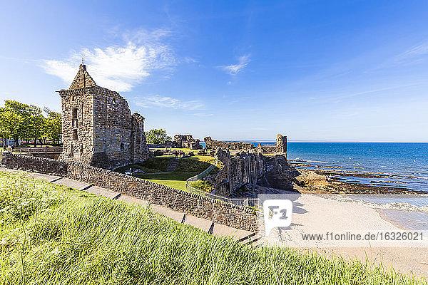 Scotland  Fife  St Andrews  Castle ruins
