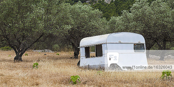 Greece  Dodecanese  Rhodes  old caravan