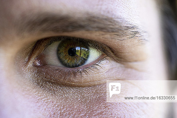 Close up of man's eye