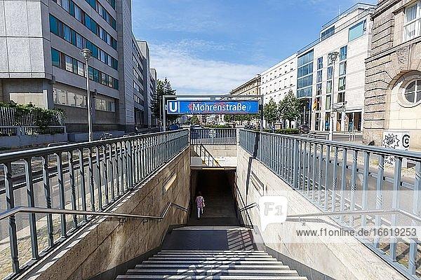 Mohrenstraße Berlin subway Metro subway station Station U Bahn  Berlin  Germany  Europe