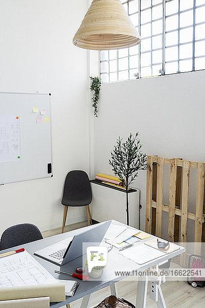 Desk in architect studio